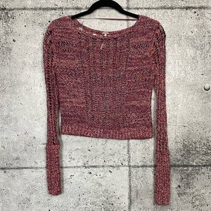 Free People // Cropped Open Knit Sweater